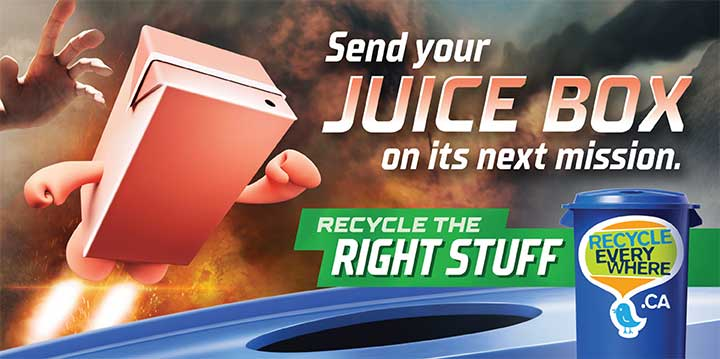 Juice box billboard execution